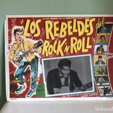 Cine: CARTEL CINE MEXICO LOS REBELDES DEL ROCK AND ROLL, CHUCK BERRY, ALAN FREED, EDDIE COCHRAN, POPLAND. Lote 221344218
