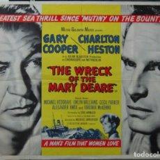 Cine: ZK45D MISTERIO EN EL BARCO PERDIDO GARY COOPER CHARLTON HESTON POSTER ORIGINAL INGLES 75X100. Lote 8990751