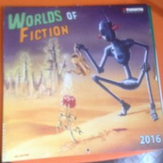 Cine: CALENDARIO 2016 WORLDS OF FICTION CINE FILMS - TUSHITA CALENDARS. Lote 221376013