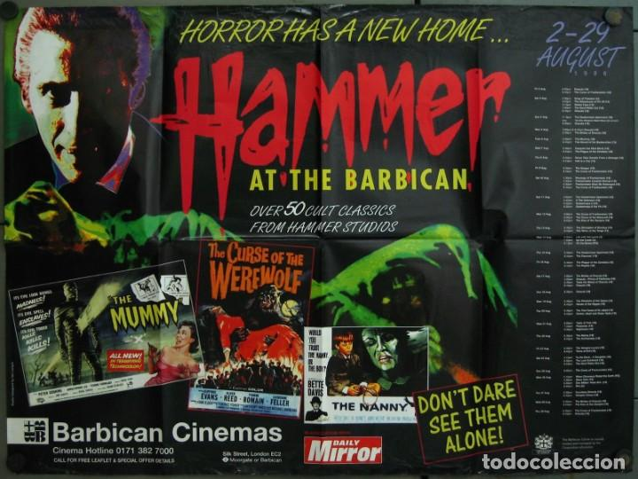 WC70D HAMMER AT THE BARBICAN FESTIVAL TERROR DRACULA MOMIA... POSTER ORIGINAL 76X102 BRITISH QUAD (Cine - Posters y Carteles - Terror)
