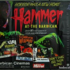 Cine: WC70D HAMMER AT THE BARBICAN FESTIVAL TERROR DRACULA MOMIA... POSTER ORIGINAL 76X102 BRITISH QUAD. Lote 221395747