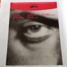 Cinema: LUIS BUÑUEL, FESTIVAL DE CINEMA DE BARCELONA 1988. CARTEL 34X47CM. Lote 221452588