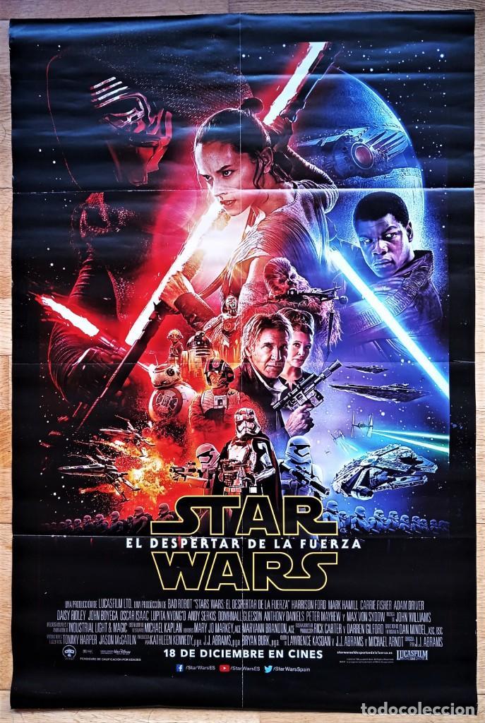 STAR WARS. EL DESPERTAR DE LA FUERZA.POSTER DE 78X52 CM. DOBLADO. LUCASFILM 2015. (Cine - Posters y Carteles - Ciencia Ficción)