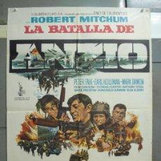 Cine: CDO 6164 LA BATALLA DE ANZIO ROBERT MITCHUM PETER FALK ROBERT RYAN POSTER ORIGINAL 70X100 ESTRENO. Lote 221569507