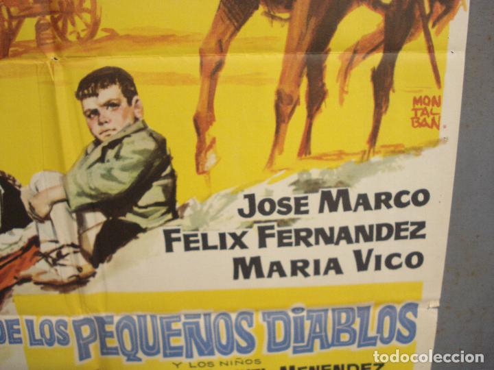 Cine: CDO 6168 LA COLINA DE LOS PEQUEÑOS DIABLOS LEON KLIMOVSKY POSTER ORIGINAL 70X100 ESTRENO - Foto 8 - 221570946