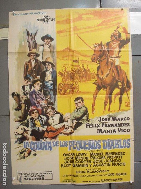 CDO 6168 LA COLINA DE LOS PEQUEÑOS DIABLOS LEON KLIMOVSKY POSTER ORIGINAL 70X100 ESTRENO (Cine - Posters y Carteles - Clasico Español)