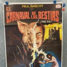 Cine: EL CARNAVAL DE LAS BESTIAS. PAUL NASCHY, EIKO NAGASHIMA, LAUTARO MURÚA. AÑO POSTER ORIGINAL. Lote 221577610