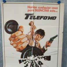 Cinéma: TELÉFONO. CHARLES BRONSON, LEE REMICK, DONALD PLEASENCE AÑO 1978. POSTER ORIGINAL. Lote 221582235