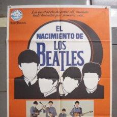 Cine: CDO 6190 EL NACIMIENTO DE LOS BEATLES THE BEATLES POSTER ORIGINAL 70X100 ESTRENO. Lote 221588735