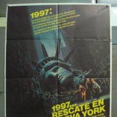 Cine: CDO 6191 1997 RESCATE EN NUEVA YORK JOHN CARPENTER KURT RUSSELL POSTER ORIGINAL 70X100 ESTRENO. Lote 221589618