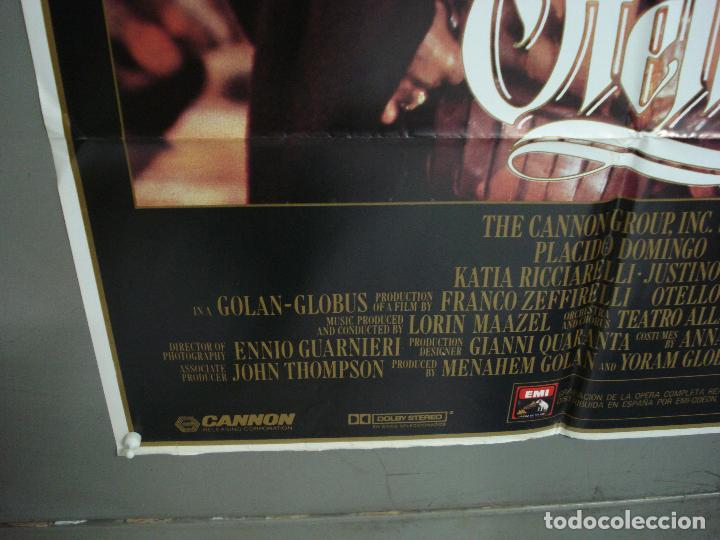 Cine: CDO 6208 OTELO PLACIDO DOMINGO OPERA POSTER ORIGINAL 70X100 ESTRENO - Foto 5 - 221600390