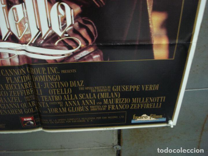 Cine: CDO 6208 OTELO PLACIDO DOMINGO OPERA POSTER ORIGINAL 70X100 ESTRENO - Foto 9 - 221600390
