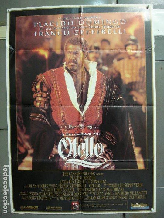 CDO 6208 OTELO PLACIDO DOMINGO OPERA POSTER ORIGINAL 70X100 ESTRENO (Cine - Posters y Carteles - Musicales)