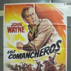 Cine: CDO 6210 LOS COMANCHEROS JOHN WAYNE POSTER ORIGINAL 70X100 R-80'S ESPAÑOL. Lote 221601068