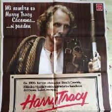 Cine: HARRY TRACY, EL ÚTLIMO FORAJIDO. CARTEL ORIGINAL. WILLIAM A. GRAHAM, BRUCE DERN, HELEN SHAVER. Lote 221651132