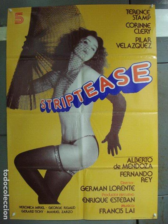 CDO 6238 STRIPTEASE CORINNE CLERY VERONICA MIRIEL PILAR VELAZQUEZ POSTER ORIGINAL 70X100 ESTRENO (Cine - Posters y Carteles - Clasico Español)
