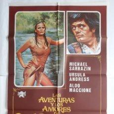 Cine: ANTIGUO CARTEL CINE LAS AVENTURAS Y LOS AMORES DE SCARAMOUCHE 1976 JANO R6. Lote 221668638