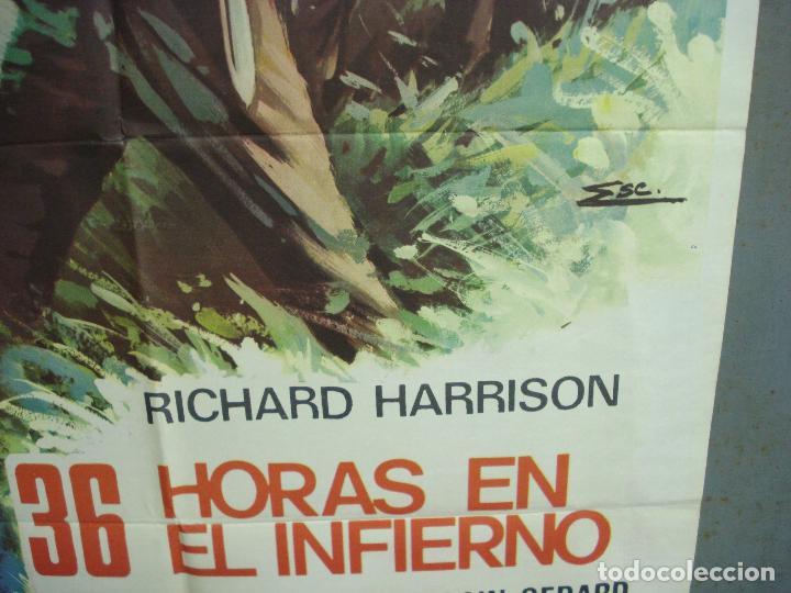 Cine: CDO 6247 36 HORAS EN EL INFIERNO RICHARD HARRISON POSTER ORIGINAL 70X100 ESTRENO - Foto 8 - 221668682