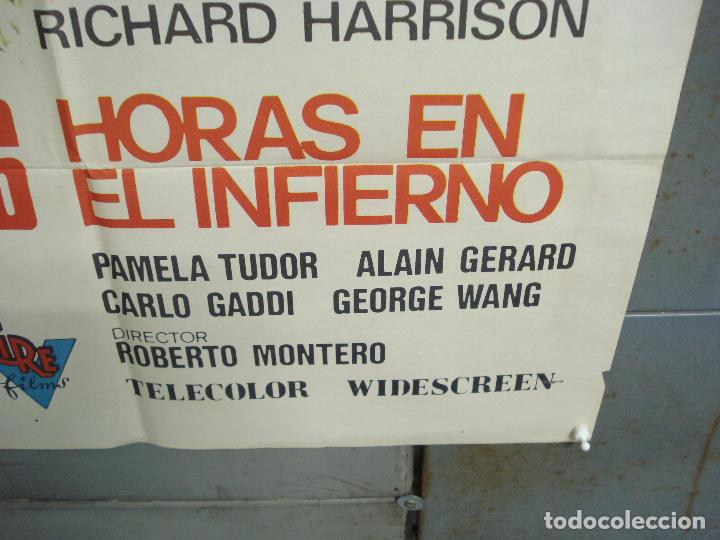 Cine: CDO 6247 36 HORAS EN EL INFIERNO RICHARD HARRISON POSTER ORIGINAL 70X100 ESTRENO - Foto 9 - 221668682