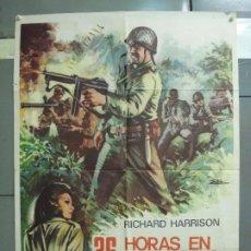 Cine: CDO 6247 36 HORAS EN EL INFIERNO RICHARD HARRISON POSTER ORIGINAL 70X100 ESTRENO. Lote 221668682