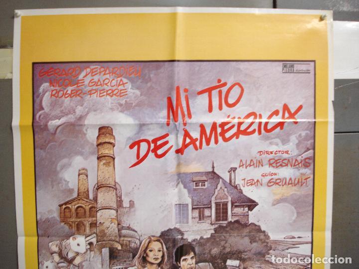 Cine: CDO 6248 MI TIO DE AMERICA ALAIN RESNAIS GERARD DEPARDIEU POSTER ORIGINAL 70X100 ESTRENO - Foto 2 - 221668788