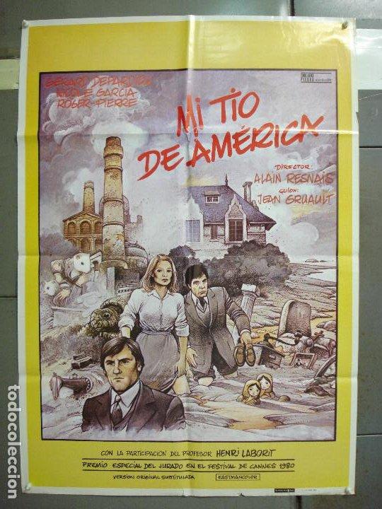 CDO 6248 MI TIO DE AMERICA ALAIN RESNAIS GERARD DEPARDIEU POSTER ORIGINAL 70X100 ESTRENO (Cine- Posters y Carteles - Drama)