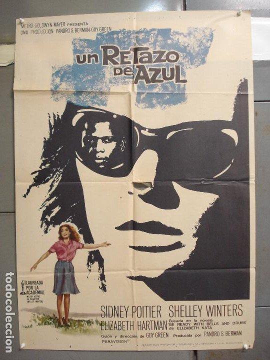 CDO 6249 UN RETAZO DE AZUL ELIZABETH HARTMAN SIDNEY POITIER POSTER ORIGINAL 70X100 ESTRENO (Cine- Posters y Carteles - Drama)