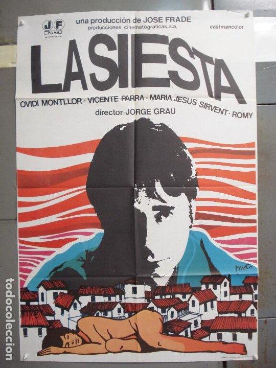 CDO 6250 LA SIESTA OVIDI MONTLLOR JORGE GRAU VICENTE PARRA POSTER ORIGINAL 70X100 ESTRENO (Cine - Posters y Carteles - Clasico Español)