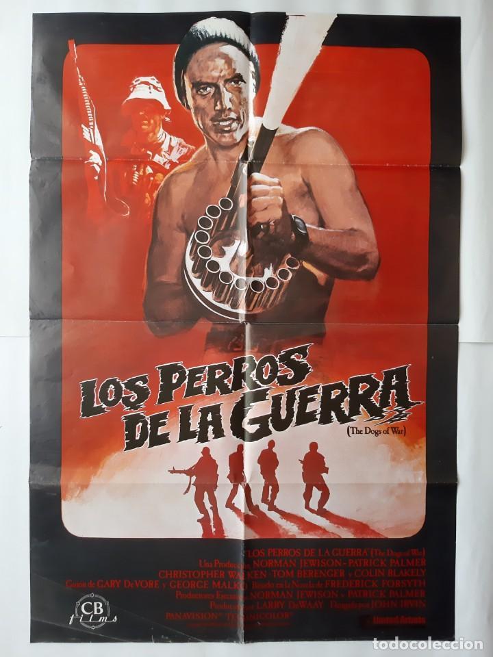ANTIGUO CARTEL CINE LOS PERROS DE LA GUERRA R9 (Cine - Posters y Carteles - Acción)
