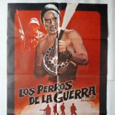 Cine: ANTIGUO CARTEL CINE LOS PERROS DE LA GUERRA R9. Lote 221669265