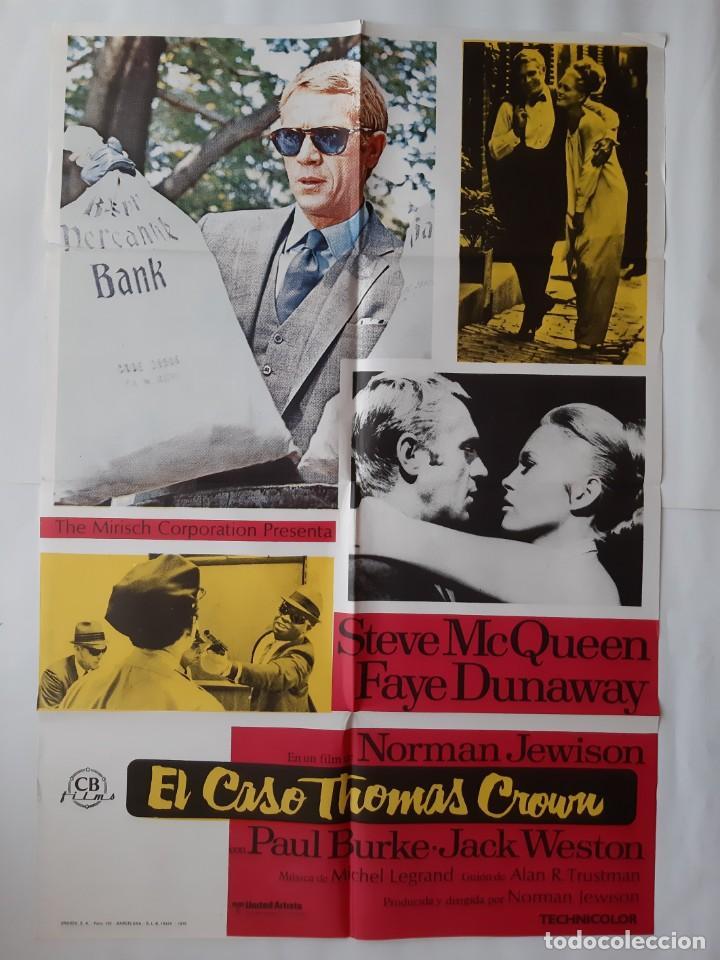 ANTIGUO CARTEL CINE EL CASO THOMAS CROWN STEVE MCQUEEN 1976 R10 (Cine - Posters y Carteles - Acción)