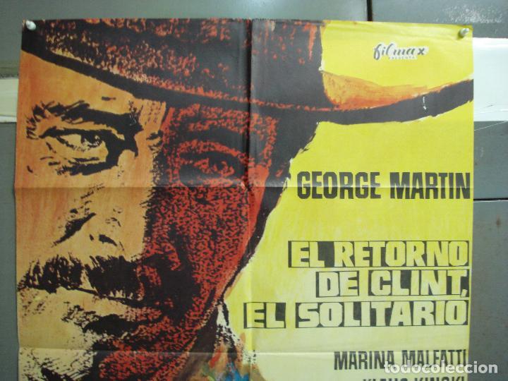 Cine: CDO 6252 EL RETORNO DE CLINT EL SOLITARIO GEORGE MARTIN SPAGHETTI POSTER ORIGINAL 70X100 ESTRENO - Foto 2 - 221671338