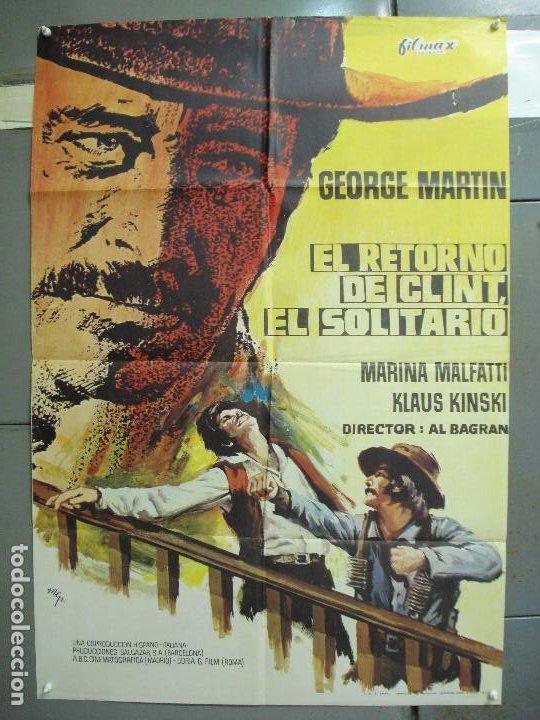 CDO 6252 EL RETORNO DE CLINT EL SOLITARIO GEORGE MARTIN SPAGHETTI POSTER ORIGINAL 70X100 ESTRENO (Cine - Posters y Carteles - Westerns)