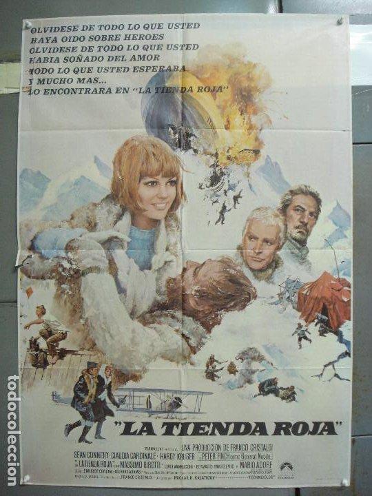 CDO 6253 LA TIENDA ROJA CLAUDIA CARDINALE SEAN CONNERY POSTER ORIGINAL 70X100 ESTRENO (Cine - Posters y Carteles - Aventura)