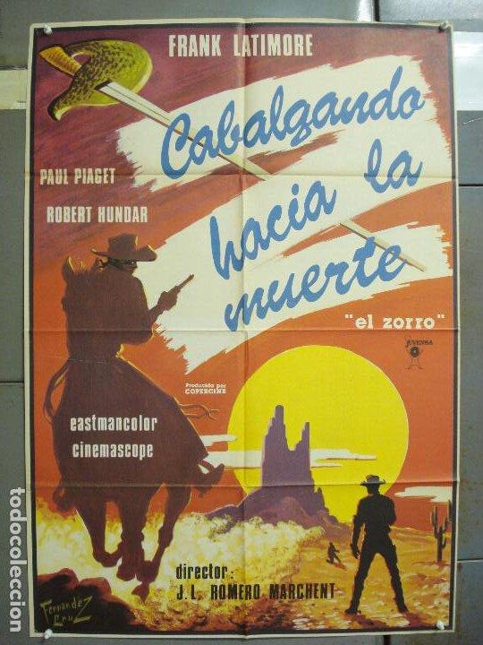CDO 6254 CABALGANDO HACIA LA MUERTE ZORRO FRANK LATIMORE ROMERO MARCHENT SPAGHETTI POSTER 70X100 ESP (Cine - Posters y Carteles - Westerns)