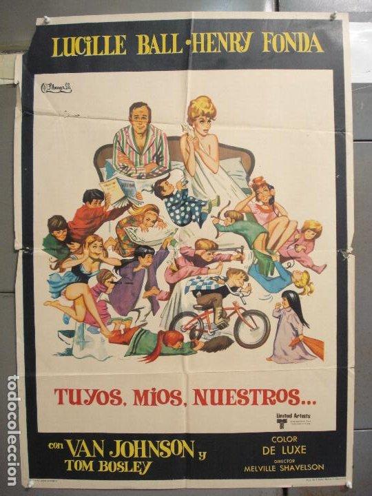 CDO 6256 TUYOS MIOS NUESTROS LUCILLE BALL HENRY FONDA POSTER ORIGINAL 70X100 ESTRENO (Cine - Posters y Carteles - Comedia)