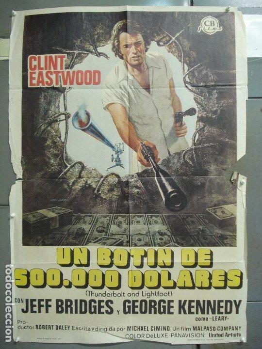 CDO 6257 UN BOTIN DE 500000 DOLARES CLINT EASTWOOD MICHAEL CIMINO POSTER ORIGINAL 70X100 ESTRENO (Cine - Posters y Carteles - Acción)