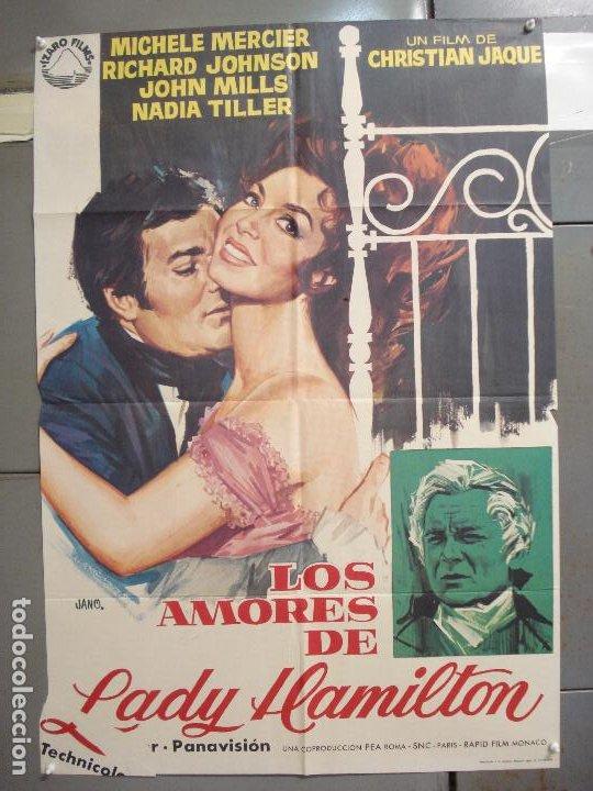 CDO 6258 LOS AMORES DE LADY HAMILTON MICHELE MERCIER RICHARD JOHNSON POSTER ORIGINAL 70X100 ESTRENO (Cine - Posters y Carteles - Comedia)