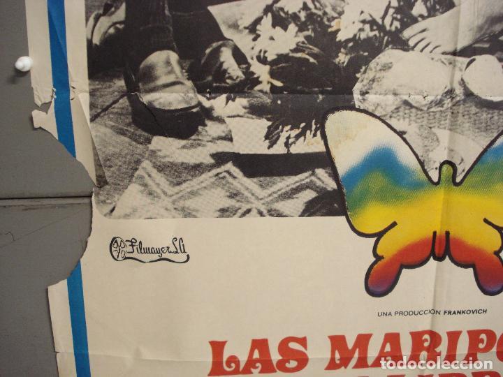 Cine: CDO 6261 LAS MARIPOSAS SON LIBRES GOLDIE HAWN POSTER ORIGINAL 70X100 ESTRENO - Foto 4 - 221673391