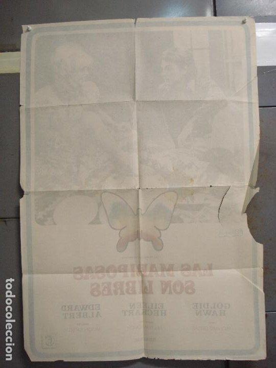 Cine: CDO 6261 LAS MARIPOSAS SON LIBRES GOLDIE HAWN POSTER ORIGINAL 70X100 ESTRENO - Foto 10 - 221673391