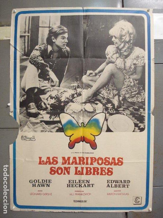 CDO 6261 LAS MARIPOSAS SON LIBRES GOLDIE HAWN POSTER ORIGINAL 70X100 ESTRENO (Cine - Posters y Carteles - Comedia)