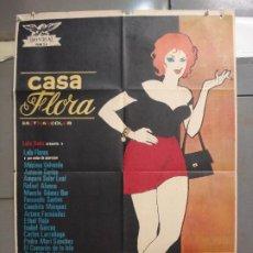 Cine: CDO 6267 CASA FLORA LOLA FLORES POSTER ORIGINAL 70X100 ESTRENO. Lote 221677781