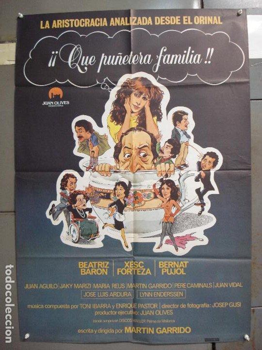 CDO 6268 QUE PUÑETERA FAMILIA BEATRIZ BARON XESC FORTEZA POSTER ORIGINAL 70X100 ESTRENO (Cine - Posters y Carteles - Clasico Español)