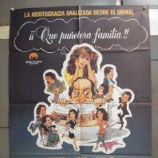 Cine: CDO 6268 QUE PUÑETERA FAMILIA BEATRIZ BARON XESC FORTEZA POSTER ORIGINAL 70X100 ESTRENO. Lote 221678120