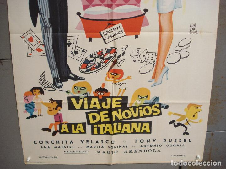 Cine: CDO 6269 VIAJE DE NOVIOS A LA ITALIANA CONCHA VELASCO TONY RUSSEL POSTER ORIGINAL 70X100 ESTRENO - Foto 3 - 221678282