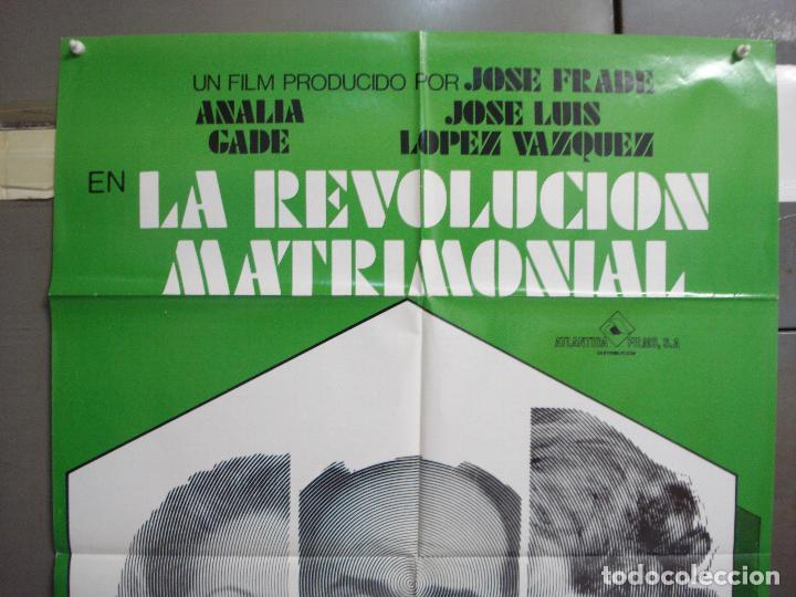 Cine: CDO 6270 REVOLUCION MATRIMONIAL JOSE LUIS LOPEZ VAZQUEZ ANALIA GADE POSTER ORIGINAL 70X100 ESTRENO - Foto 2 - 221678473