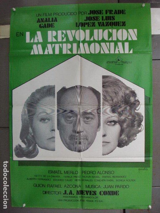 CDO 6270 REVOLUCION MATRIMONIAL JOSE LUIS LOPEZ VAZQUEZ ANALIA GADE POSTER ORIGINAL 70X100 ESTRENO (Cine - Posters y Carteles - Clasico Español)