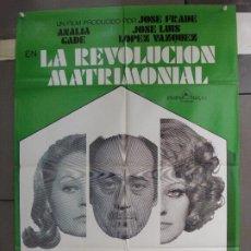 Cine: CDO 6270 REVOLUCION MATRIMONIAL JOSE LUIS LOPEZ VAZQUEZ ANALIA GADE POSTER ORIGINAL 70X100 ESTRENO. Lote 221678473