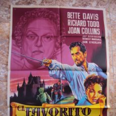 Cine: (CINE-658)EL FAVORITO DE LA REINA BETTE DAVIS JOAN COLLINS SOLIGO POSTER ORIG. Lote 221680153