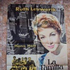Cine: (CINE-648)LA FAMILIA TRAPP EN AMÉRICA. RUTH LEUWERIK, HANS HOLT, JOSEF MEINRAD POSTER ORIGINAL. Lote 221681052